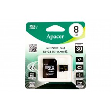 Flash micro SD Apacer 8Gb class 10+SD 31176