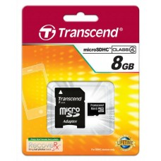 Flash micro SD Transcend SDHC 8GB Cl4+SD 31879