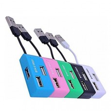 HUB USB DeTech DE-V12 Blue 4-port 39875